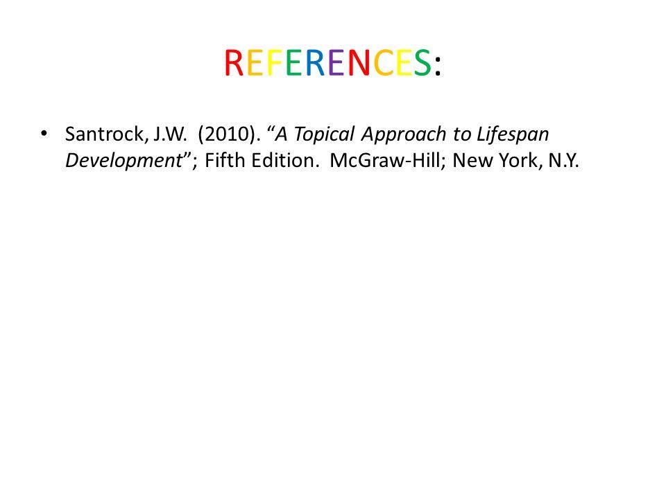 REFERENCES:REFERENCES: Santrock, J.W. (2010).