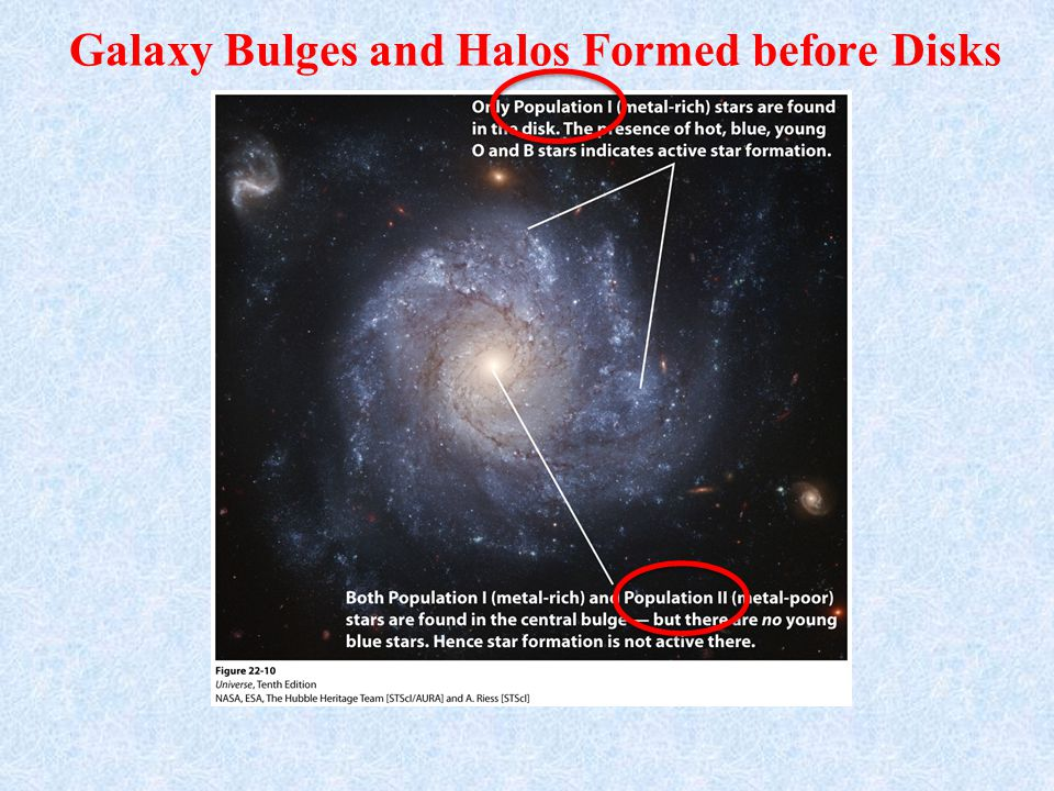 Galaxy Bulges and Halos Formed before Disks