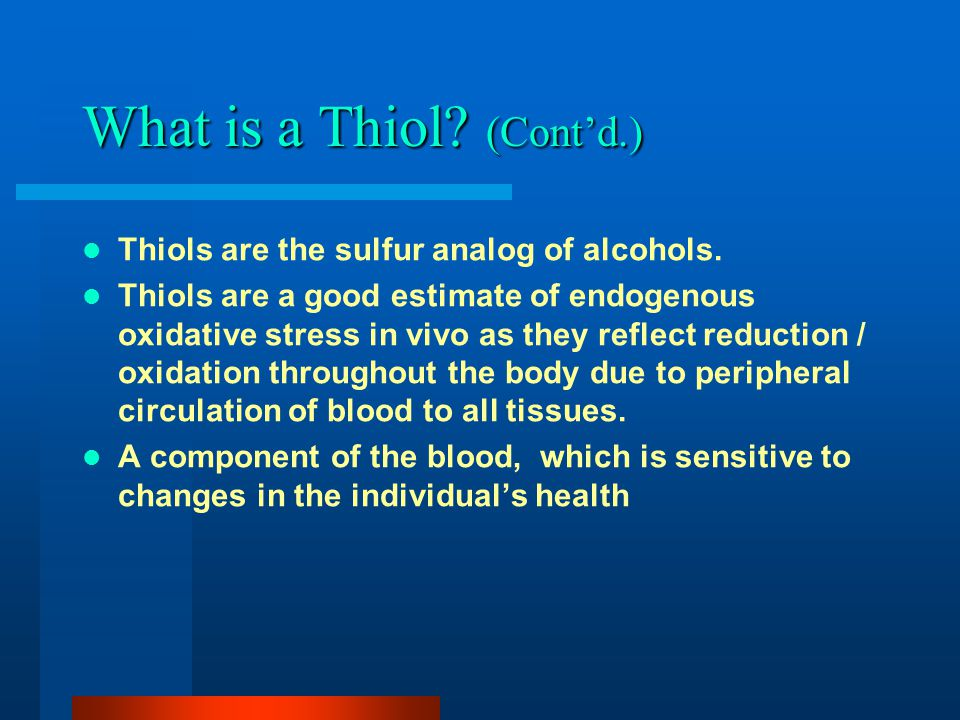 What is a Thiol.