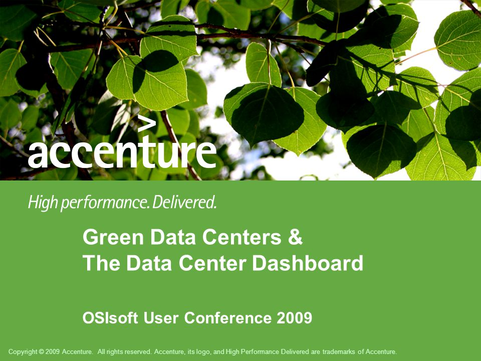 Copyright © 2009 Accenture. All rights reserved.