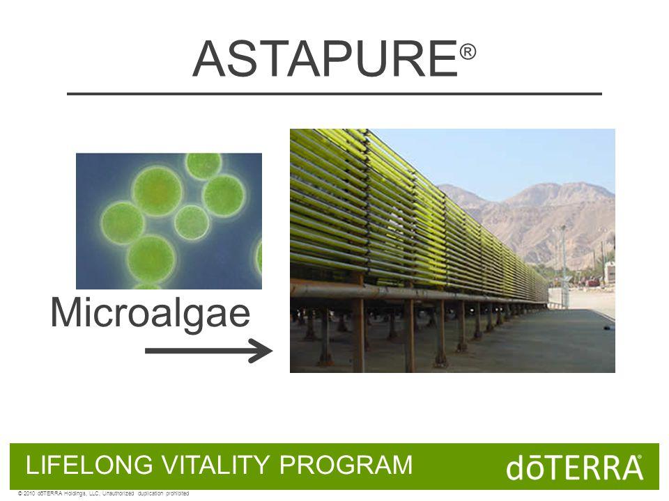 ASTAPURE ® LIFELONG VITALITY PROGRAM Microalgae © 2010 dōTERRA Holdings, LLC, Unauthorized duplication prohibited