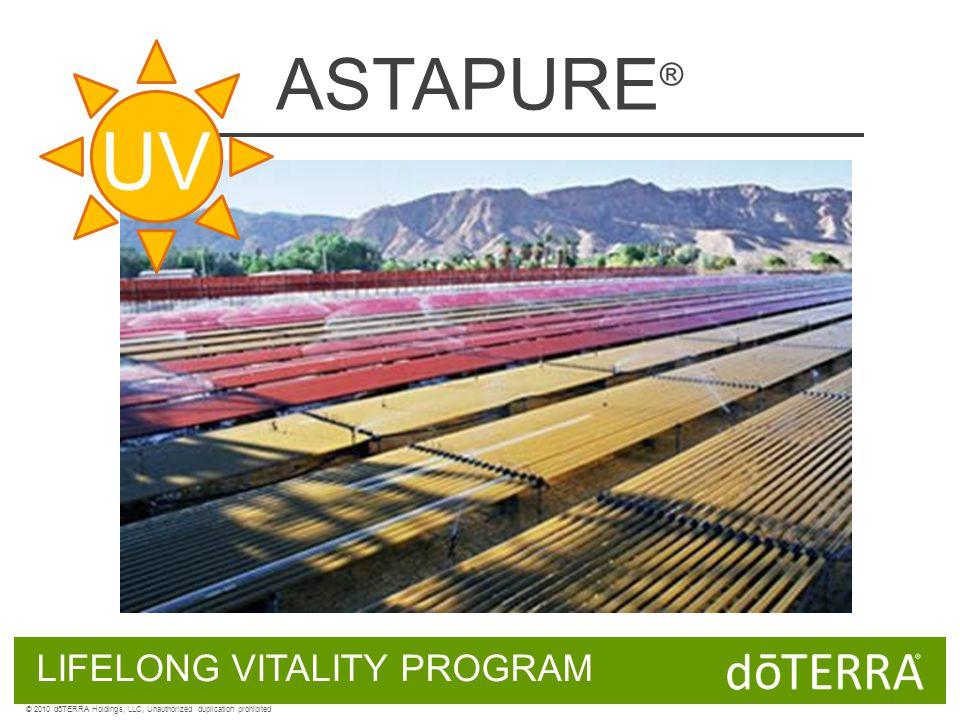 ASTAPURE ® LIFELONG VITALITY PROGRAM © 2010 dōTERRA Holdings, LLC, Unauthorized duplication prohibited UV