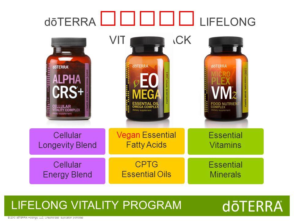 LIFELONG VITALITY PROGRAM Cellular Energy Blend dōTERRA VEGAN LIFELONG VITALITY PACK Cellular Longevity Blend Essential Minerals Essential Vitamins CP