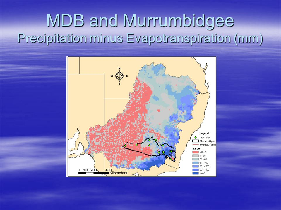 MDB and Murrumbidgee Precipitation minus Evapotranspiration (mm)
