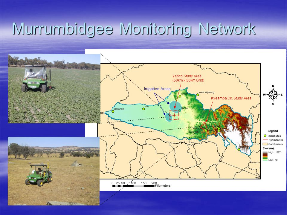 Murrumbidgee Monitoring Network Irrigation Areas Yanco Study Area (50km x 50km Grid) Kyeamba Ck.
