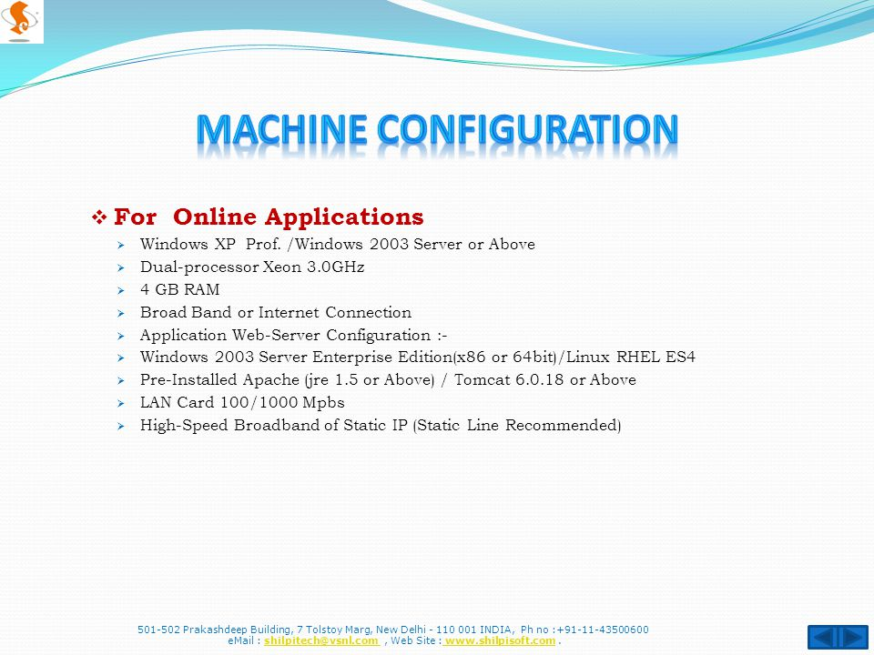  For Online Applications  Windows XP Prof.