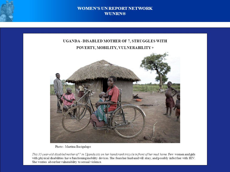 WOMEN'S UN REPORT NETWORK WUNRN® DISABLED WOMAN S VOICE I am a proud disabled woman.