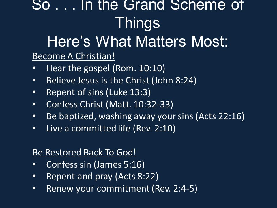 Become A Christian. Hear the gospel (Rom.