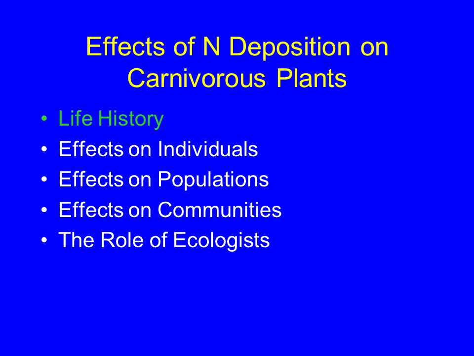 Carnivorous plants: well- known, but poorly studied