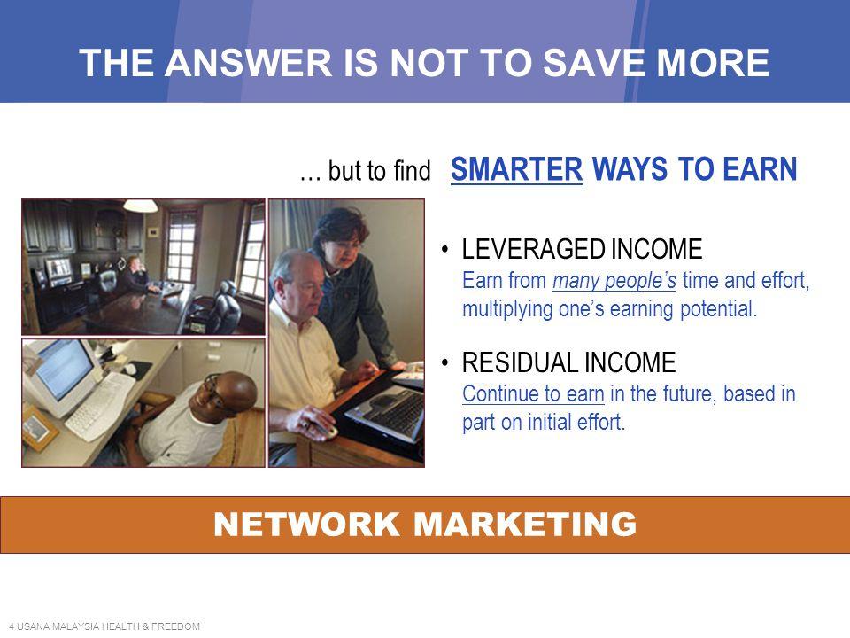 5 USANA MALAYSIA HEALTH & FREEDOM NETWORK MARKETING CREATES WEALTH NETWORK MARKETING is not just selling.