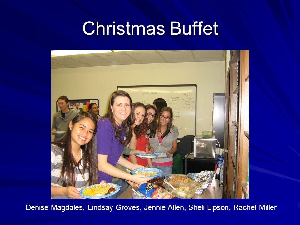 Christmas Buffet Denise Magdales, Lindsay Groves, Jennie Allen, Sheli Lipson, Rachel Miller