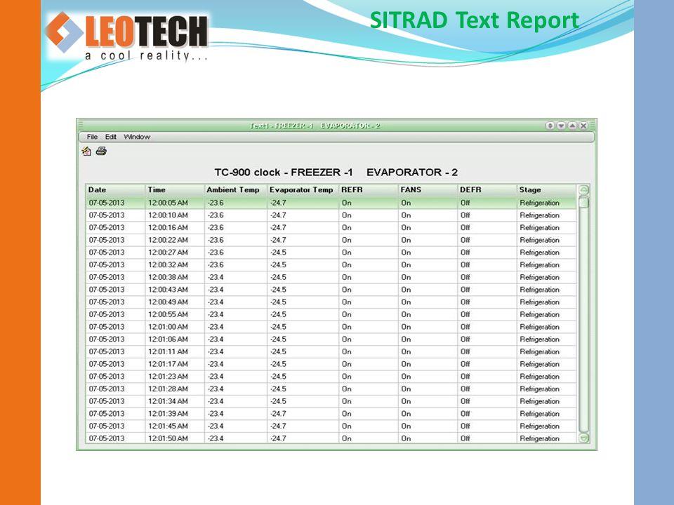 SITRAD Text Report