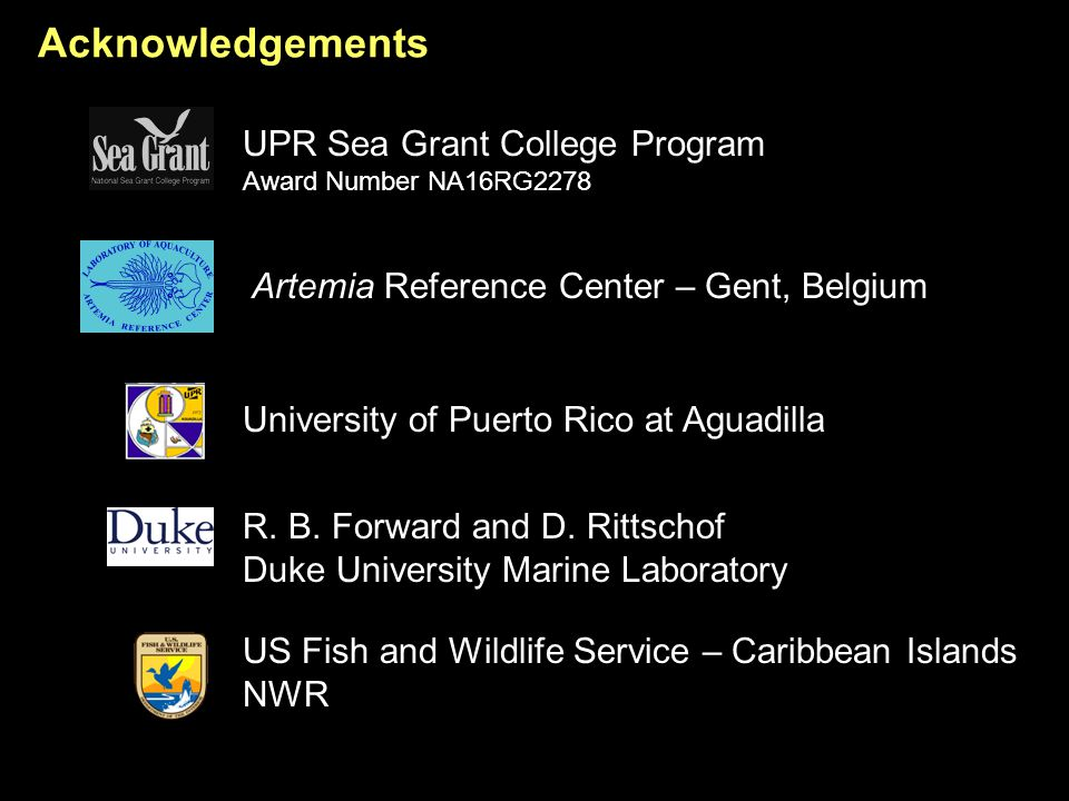 Acknowledgements R.B. Forward and D.