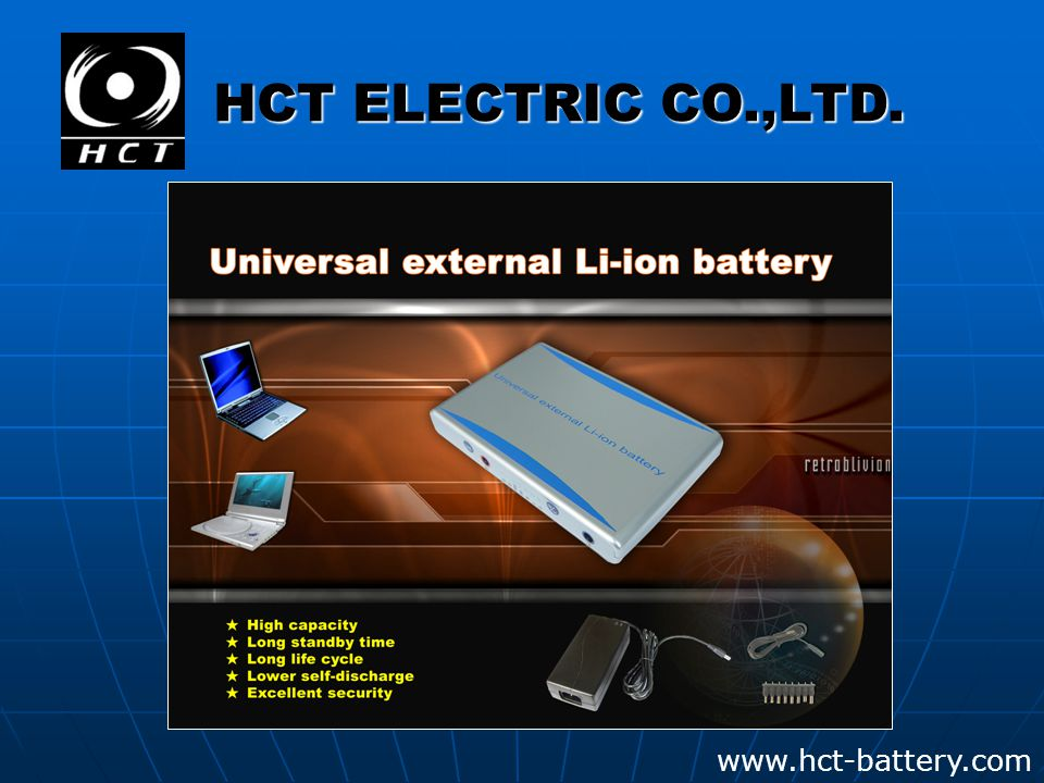 www.hct-battery.com HCT ELECTRIC CO.,LTD.
