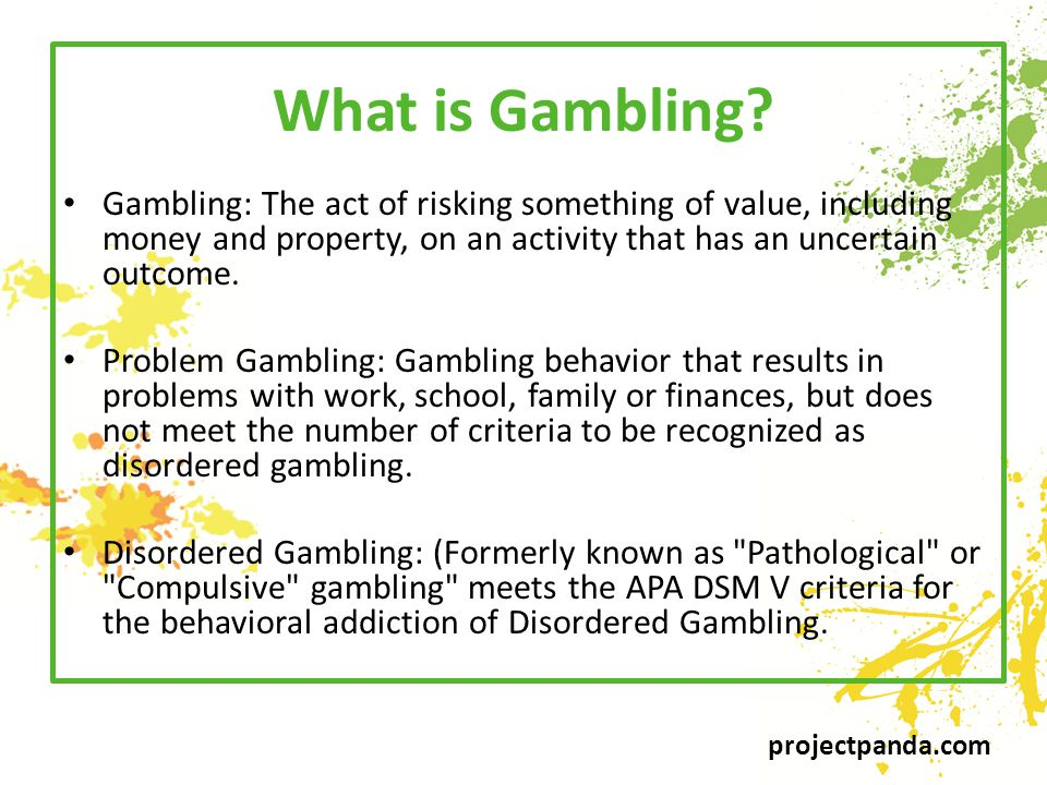 projectpanda.com What is Gambling.