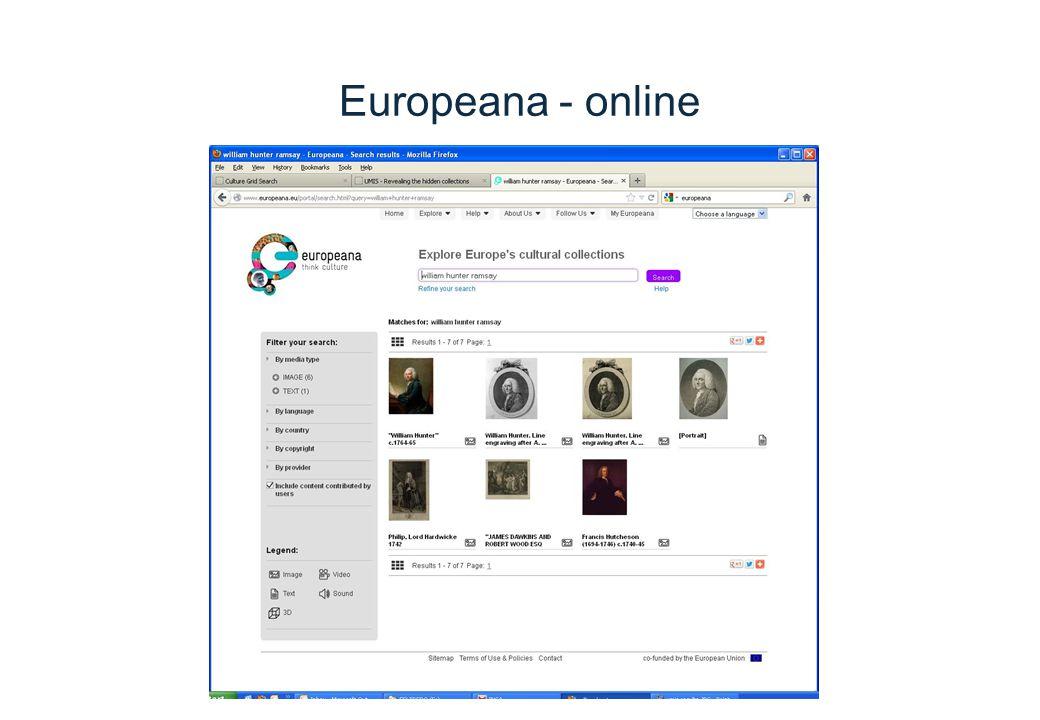 Europeana - online
