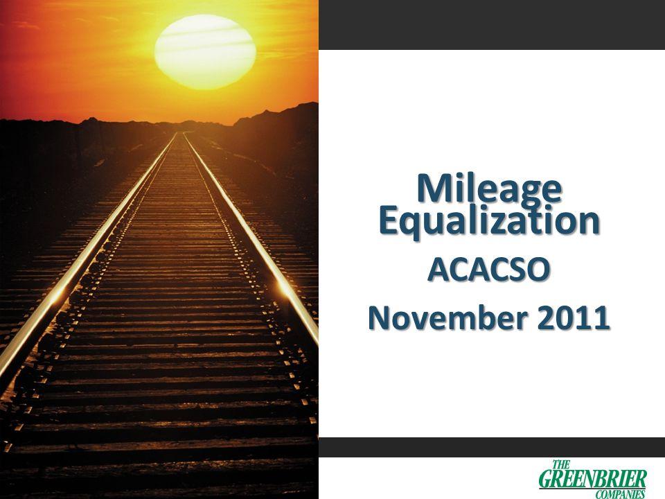 0 Mileage Equalization ACACSO November 2011