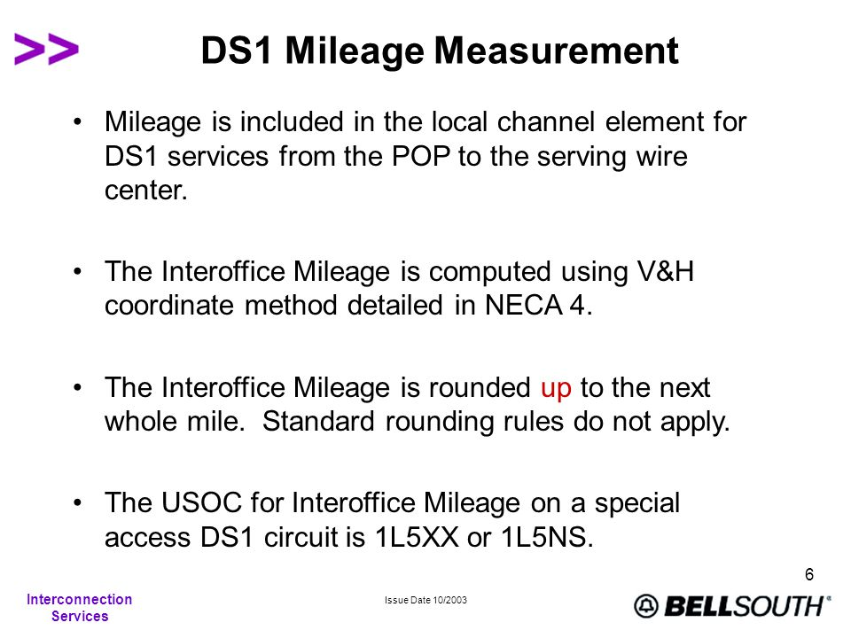 Interconnection Services Issue Date 10/2003 7 LightGate® Service Mileage Calculations Mileage is calculated on the airline distance between the locations involved.