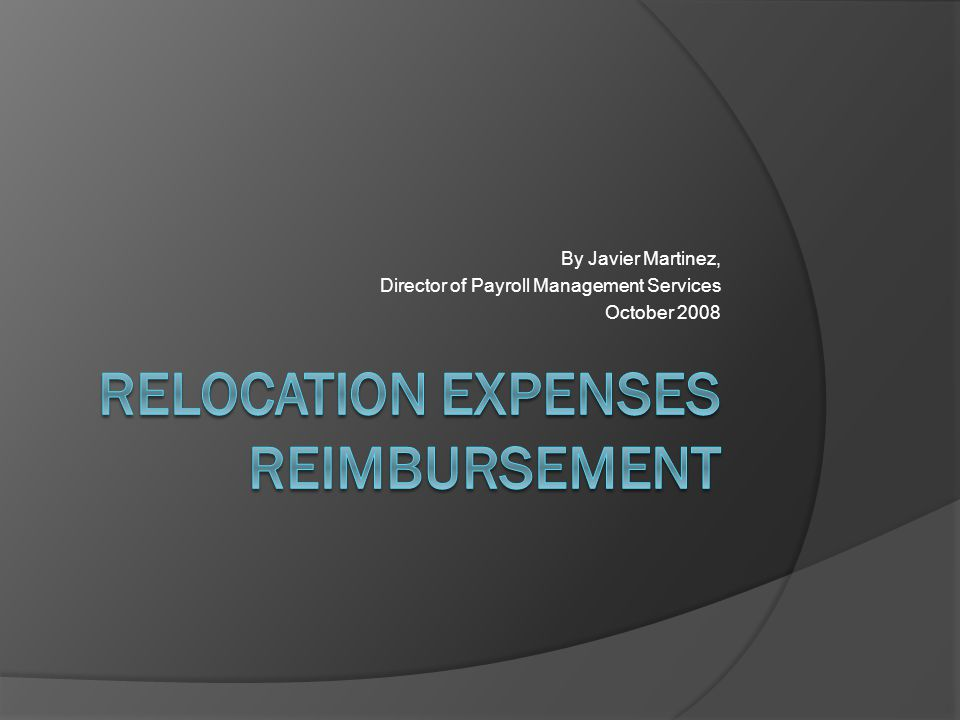 By Javier Martinez, Director of Payroll Management Services October 2008