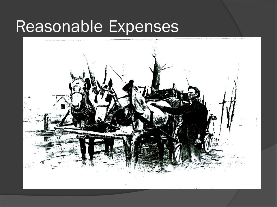 Reasonable Expenses
