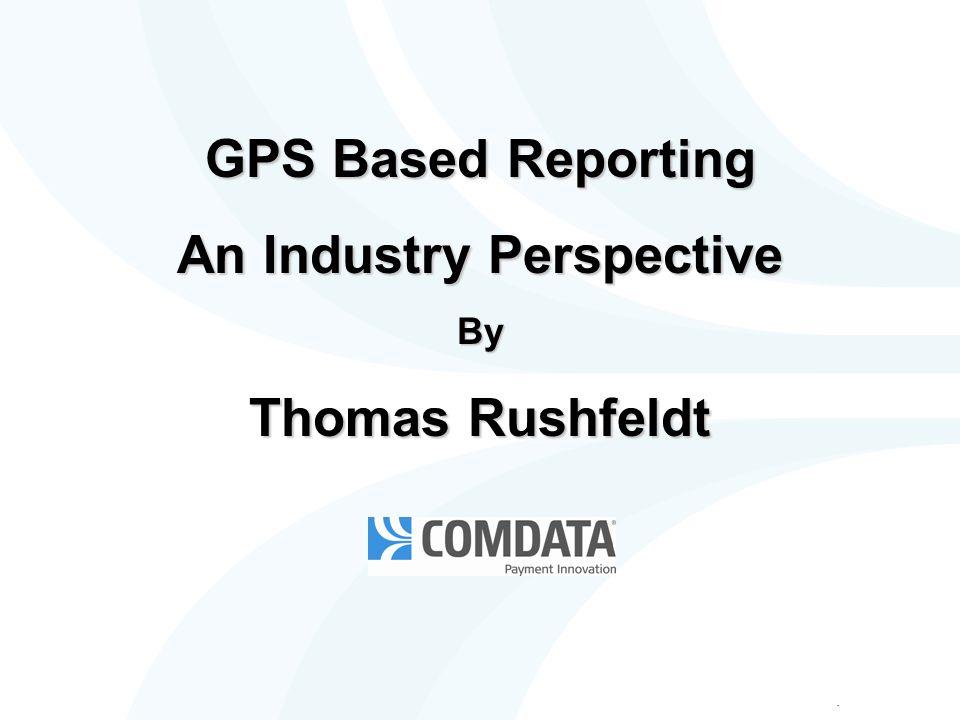 Introduction Thomas Rushfeldt – SVP Regulatory Compliance Solutions division of Comdata Founder & President of Inter-Tax, Inc.