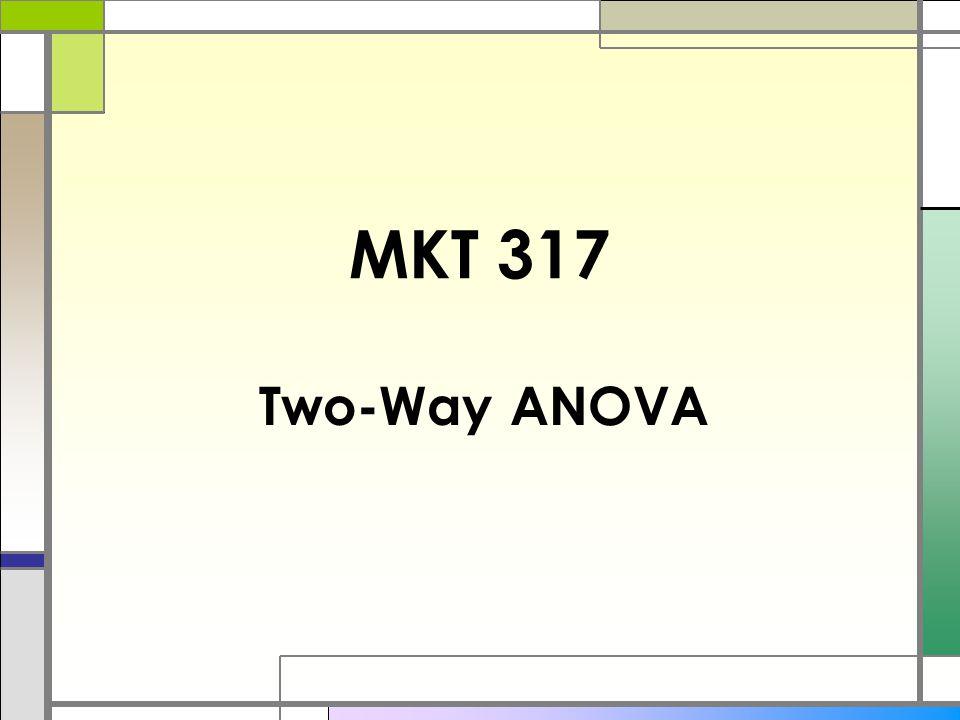 MKT 317 Two-Way ANOVA