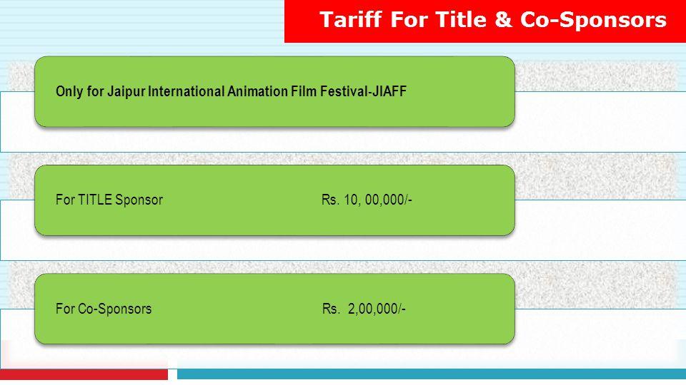 Tariff For Title & Co-Sponsors