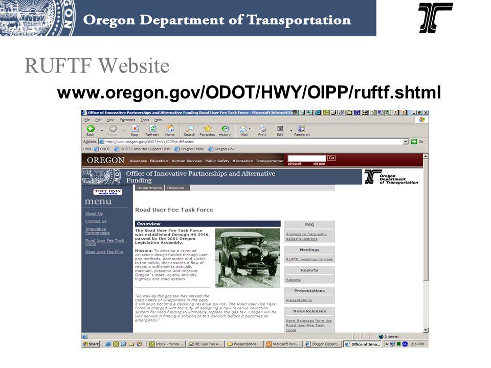 RUFTF Website www.oregon.gov/ODOT/HWY/OIPP/ruftf.shtml
