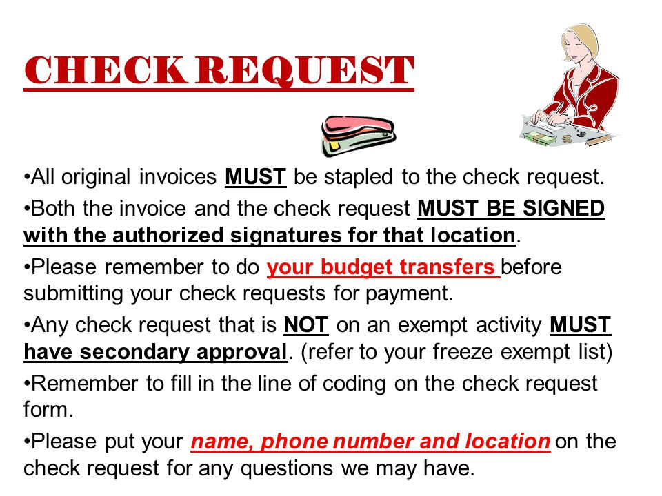 PLEASE STAPLE A SIGNED ATHLETIC PAYROLL REPORT FORM TO THE NEW CHECK REQUEST FORM WHEN PROCESSING OFFICIALS.