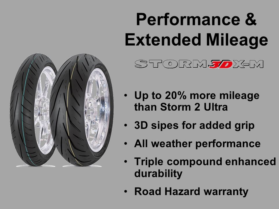 Compound-1 - Medium center - improved mileage.Compound-2 - Soft shoulders - max grip.