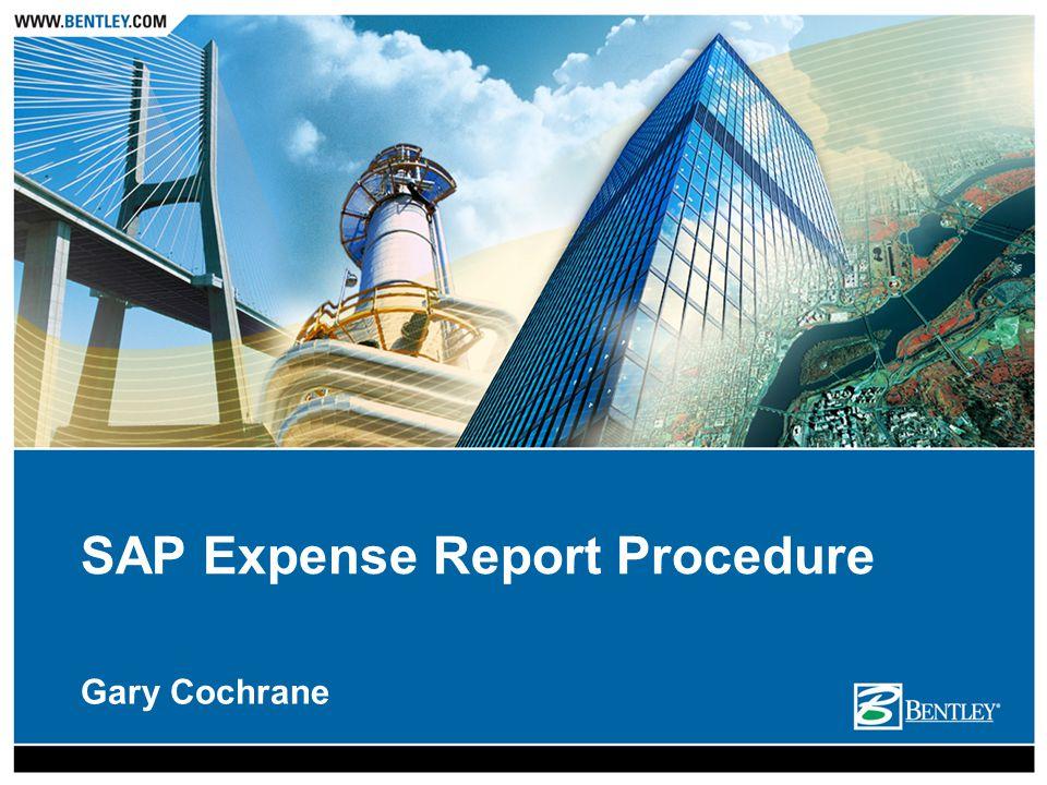 Gary Cochrane SAP Expense Report Procedure