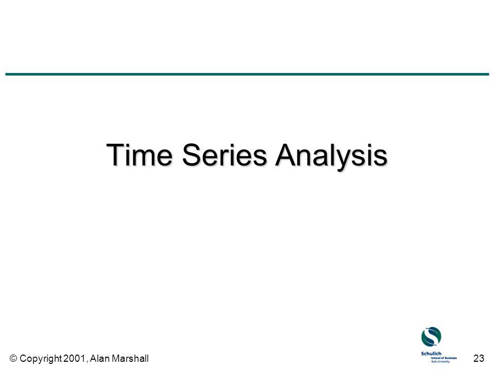 © Copyright 2001, Alan Marshall23 Time Series Analysis