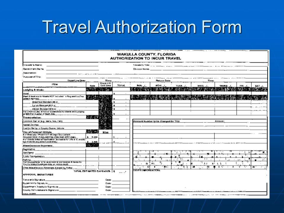 Travel Authorization Form
