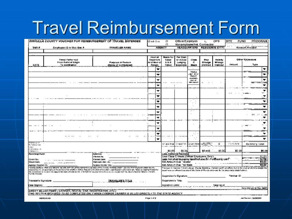 Travel Reimbursement Form