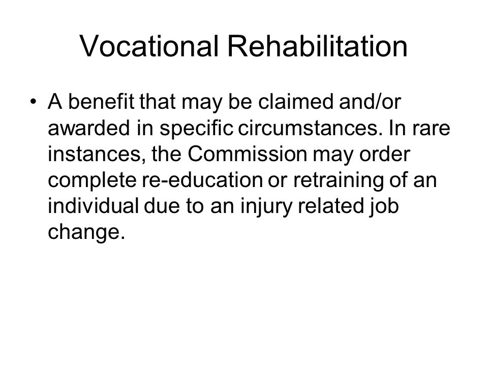 Maintenance Benefit that may be awarded in specific circumstances-it is generally difficult to define but in most typically appears to be temporary disability or other expenses paid during vocational rehabilitation or retraining.