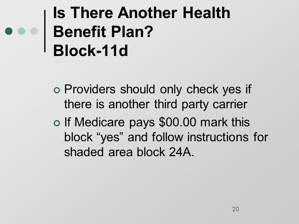 20 Is There Another Health Benefit Plan.