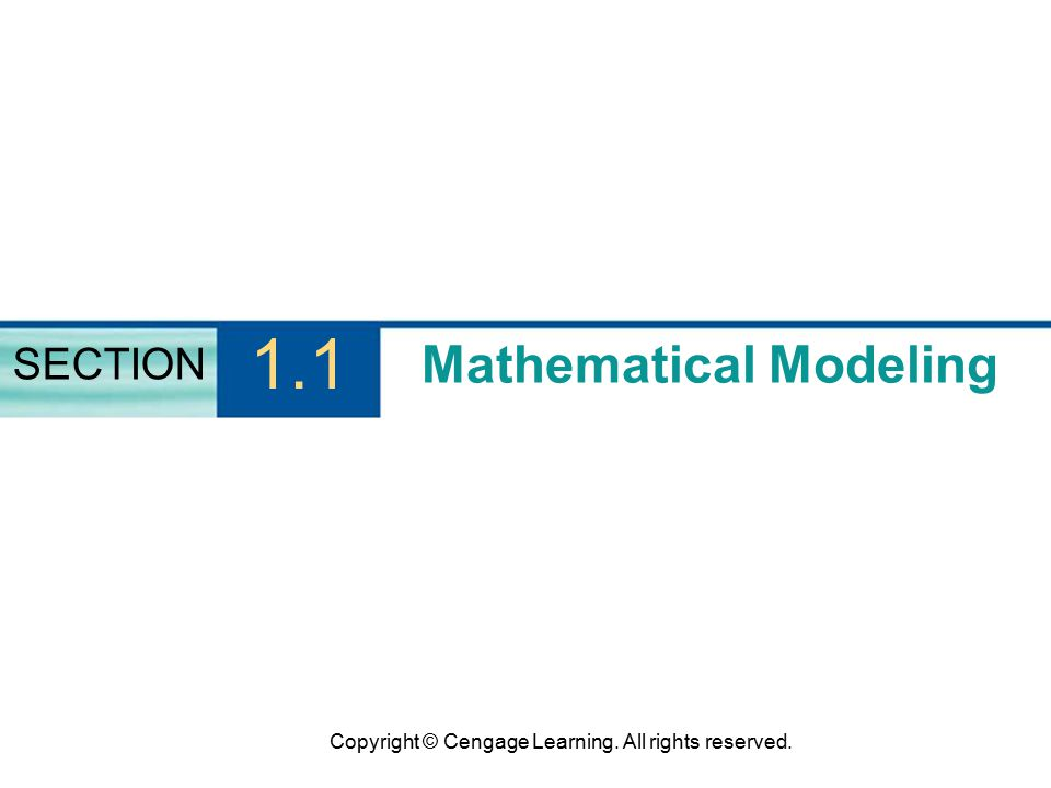 Mathematical Modeling SECTION 1.1