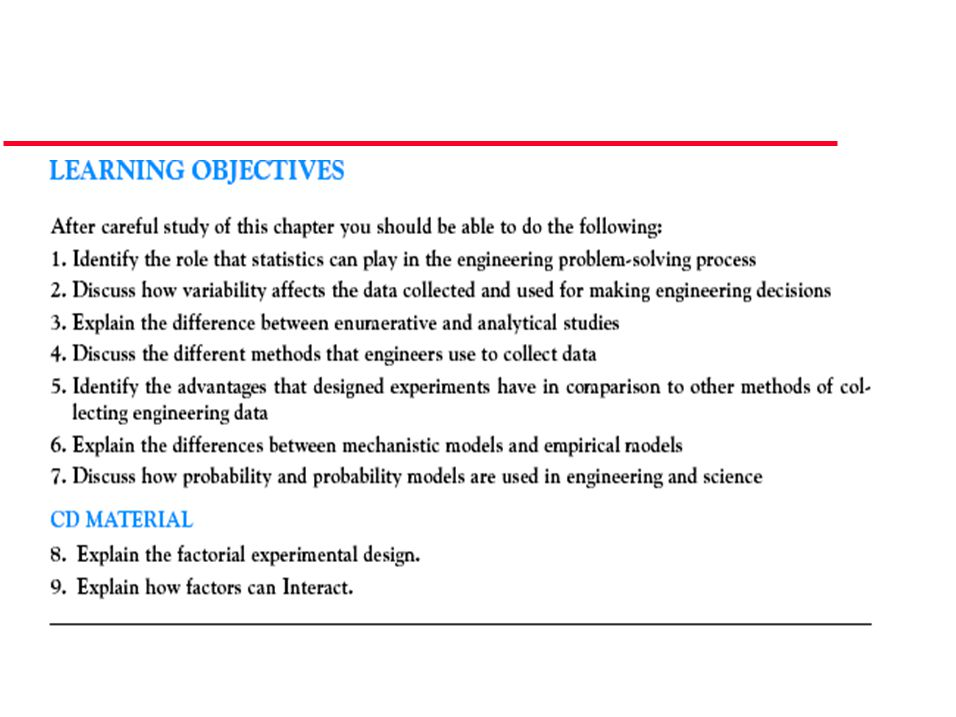 1-3 Mechanistic and Empirical Models In general, this type of empirical model is called a regression model.
