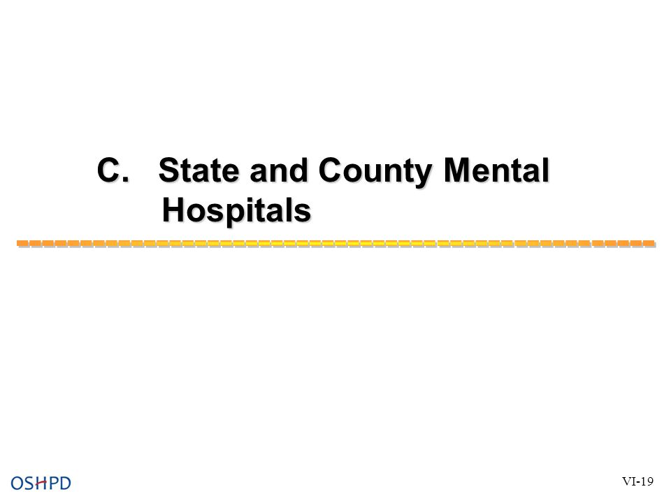 C. State and County Mental Hospitals VI-19