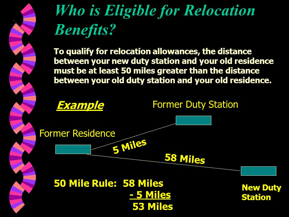 OVERVIEW OF RELOCATION BENEFITS For Bargaining Unit Employees Misc.