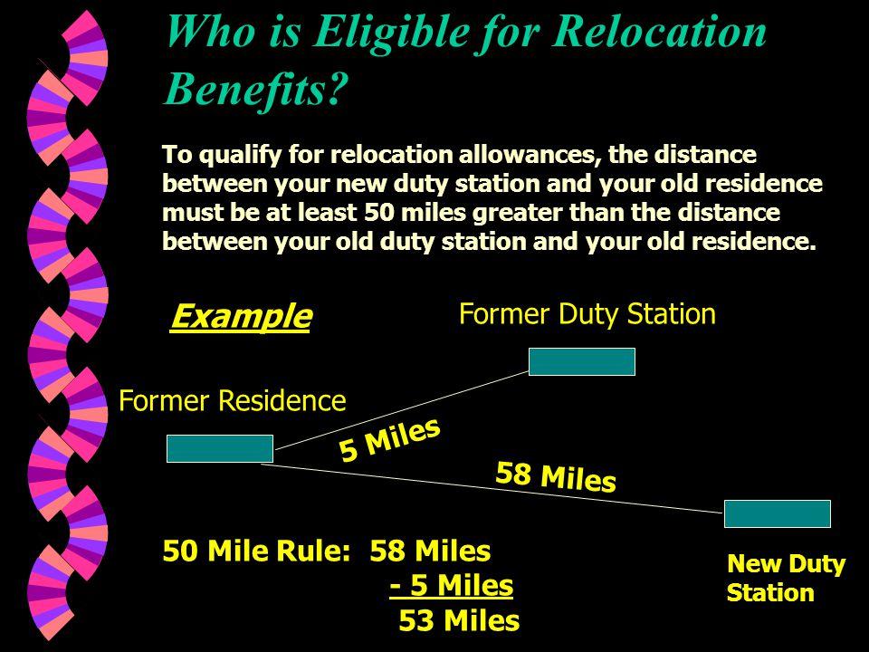 RELOCATION BENEFITS