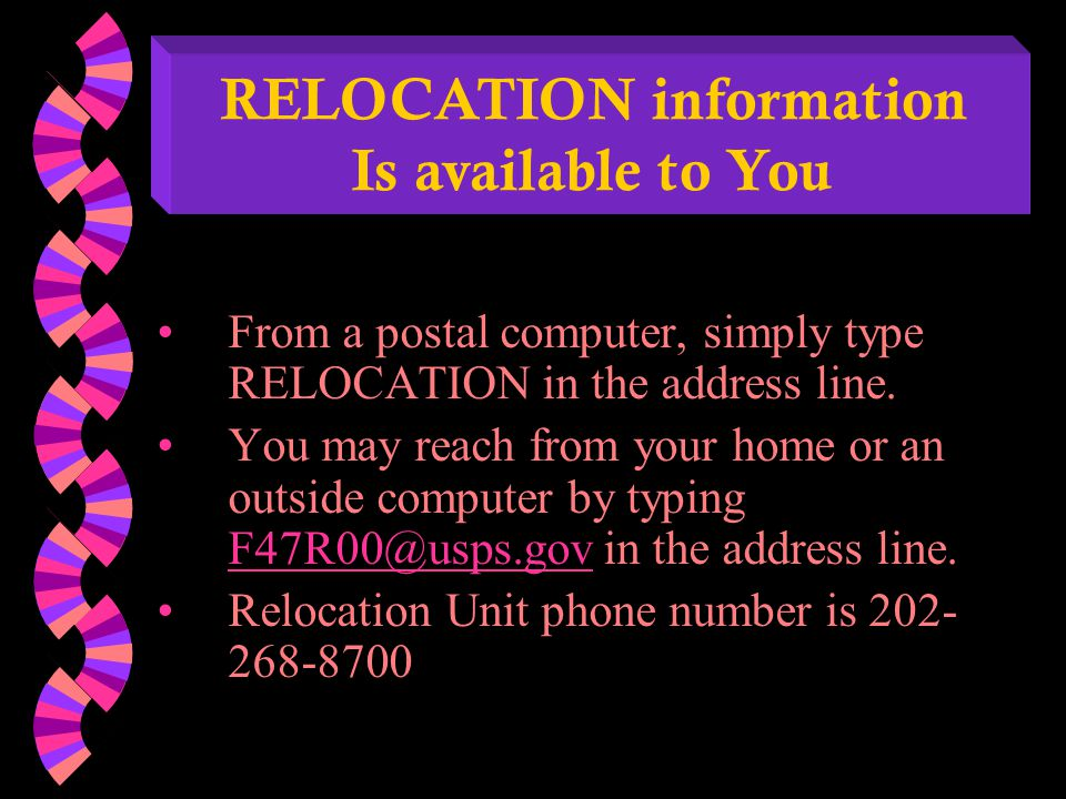 OVERVIEW OF RELOCATION BENEFITS For Bargaining Unit Employees Brokerage Fees & CommissionsYes Legal FeesYes Advertising and Selling FeesYes Settlement CostsYes Shipment of Household GoodsYes Relocation Leave5 days Advance FundsYes (receipt or pay back)