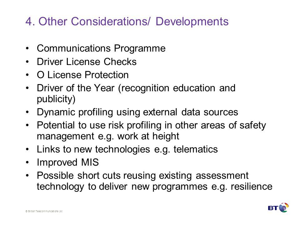 © British Telecommunications plc 4.