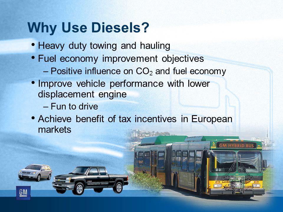 Why Use Diesels.