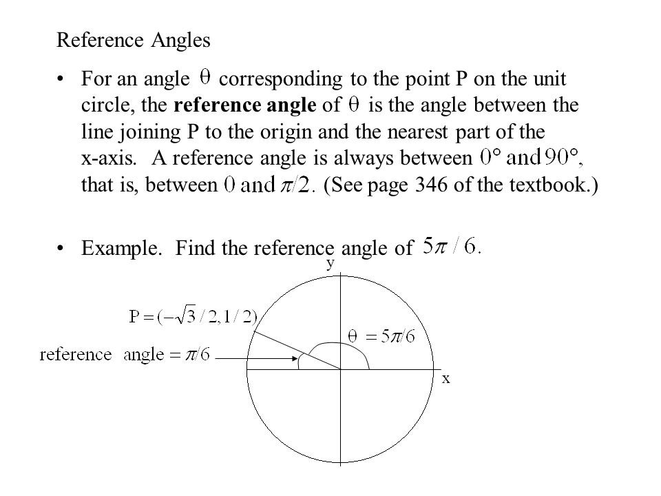 The Unit Circle x y For any angle  : (x,y) = (cos , sin  )