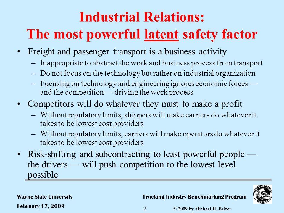 Trucking Industry Benchmarking ProgramWayne State University © 2009 by Michael H.