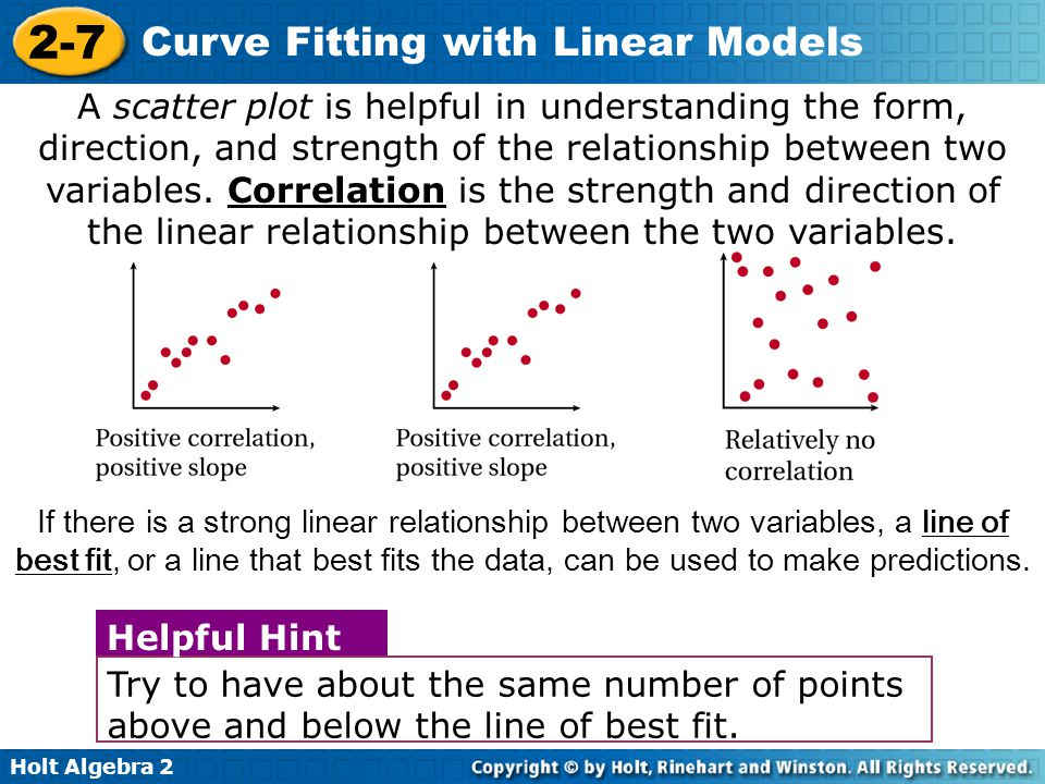 Holt Algebra 2 2-7 Curve Fitting with Linear Models Albany and Sydney are about the same distance from the equator.