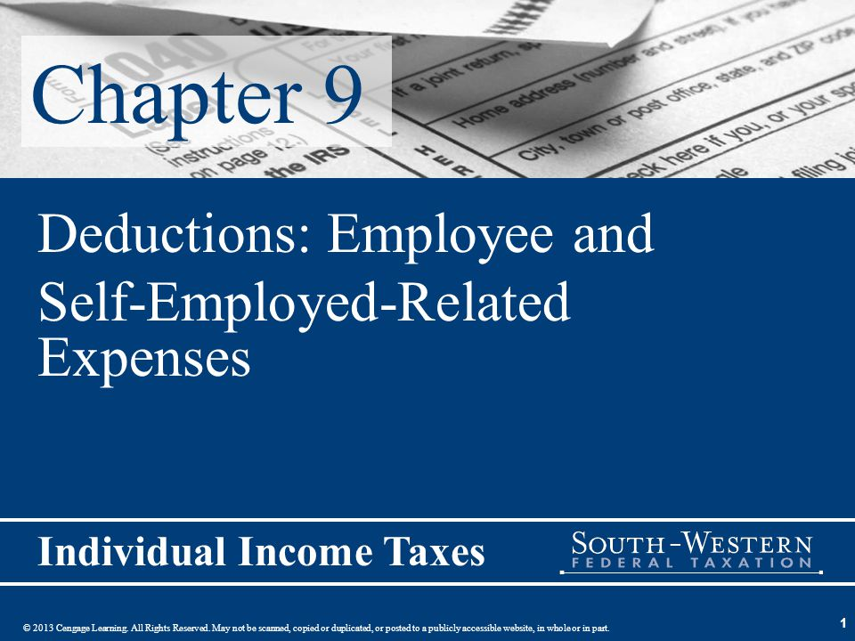 52 Substantiation for Expenditures (slide 1 of 2) No deduction allowed for an expense if the taxpayer does not have adequate records for the expense –Therefore, taxpayers need to have good records for employee or self-employed expenses In some cases, use of per diem allowance will be deemed substantiation