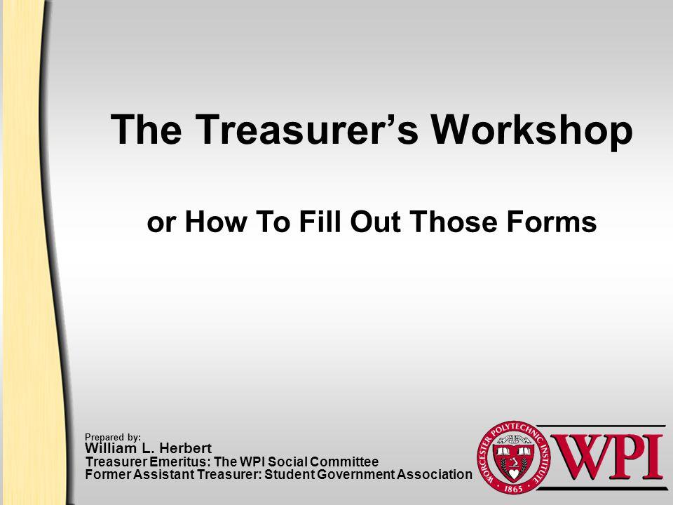 Worcester Polytechnic Institute 2 Accounting/Treasurer Web Site http://www.wpi.edu/Admin/Acc/SAO/ Includes: Cash Receipt (Deposit) Check Request Expense Report (Reimbursement) Inter-Departmental Transfer (IDT)