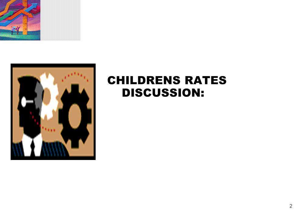 3 CURRENT CHILDREN'S SYSTEM 1.Single Blended Rate 2.